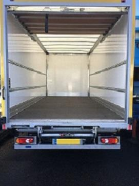 Large Box Van with Tail Lift eg-.Daf FA LF180 7.5 Tonne Van